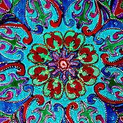 Картины и панно ручной работы. Ярмарка Мастеров - ручная работа картина на стекле мандала- ВОСТОЧНЫЙ ВЕТЕРОК. Handmade.