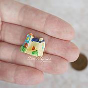 Материалы для творчества ручной работы. Ярмарка Мастеров - ручная работа Игрушка Домик Синяя крыша. Handmade.