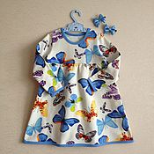 """Работы для детей, ручной работы. Ярмарка Мастеров - ручная работа Платье """"Бабочки"""". Handmade."""