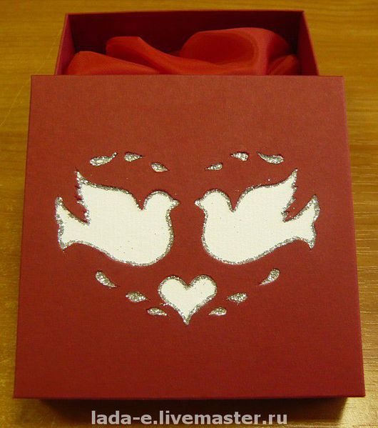 Wedding Accessories handmade. Livemaster - handmade. Buy Box for wedding rings.Gift wrap, box for medals, cardboard