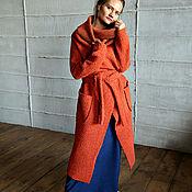 Одежда ручной работы. Ярмарка Мастеров - ручная работа Пальто СOZY ORANGE. Handmade.
