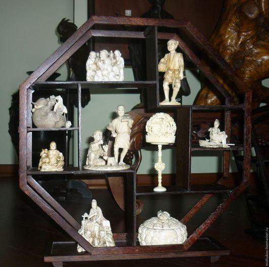 Мебель ручной работы. Ярмарка Мастеров - ручная работа. Купить Этажерка в китайском стиле - Восьмигранник. Handmade. Коричневый, ручная работа