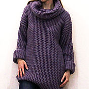 Одежда handmade. Livemaster - original item Sweater-dress female knitted, handmade. Handmade.