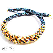 Украшения handmade. Livemaster - original item Necklace harness of beads gold necklace. Handmade.