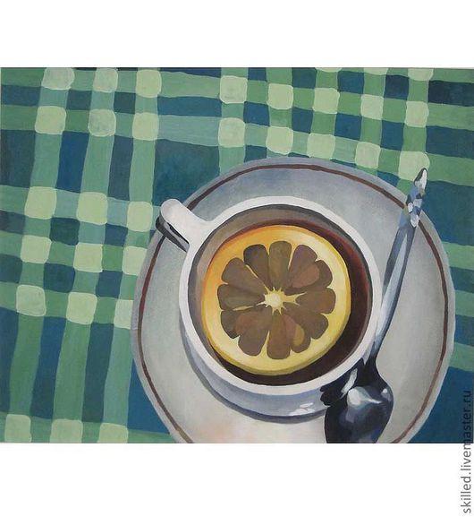 Натюрморт ручной работы. Ярмарка Мастеров - ручная работа. Купить Время пить чай. Handmade. Натюрморт, чашка с блюдцем