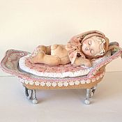 Тедди Долл ручной работы. Ярмарка Мастеров - ручная работа Тедди долл Зайка сплюшка. Handmade.