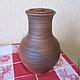 Кухня ручной работы. Ярмарка Мастеров - ручная работа. Купить глиняный кувшин. Handmade. Коричневый, глиняная посуда, кувшин для воды