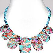 Украшения handmade. Livemaster - original item Necklace made of natural stone variscite. Handmade.