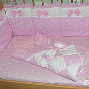 Для дома и интерьера ручной работы. Ярмарка Мастеров - ручная работа Комплект в детскую кровать. Handmade.