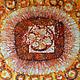 Абстракция ручной работы. Ярмарка Мастеров - ручная работа. Купить Картина Масленица, выполненная на шелке в технике горячего батика. Handmade.