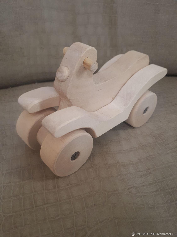 деревянный мотоцикл, Техника роботы транспорт, Вознесенское,  Фото №1