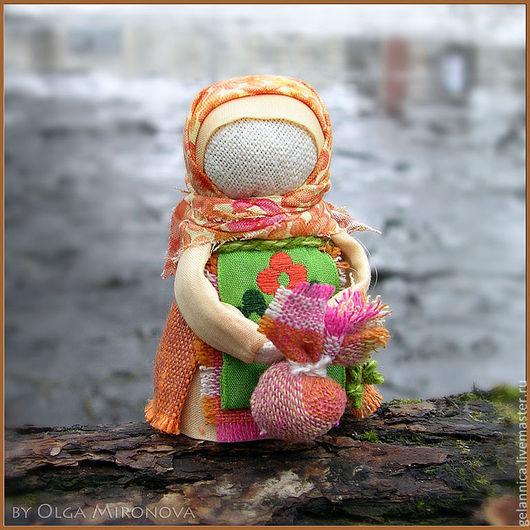 Народные куклы ручной работы. Ярмарка Мастеров - ручная работа. Купить Подорожница. Handmade. Подорожница, народная кукла, куколка в кармашек