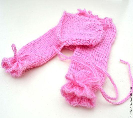 Для новорожденных, ручной работы. Ярмарка Мастеров - ручная работа. Купить Комплект для фотосессии новорожденной девочки штанишки + шапочка. Handmade.