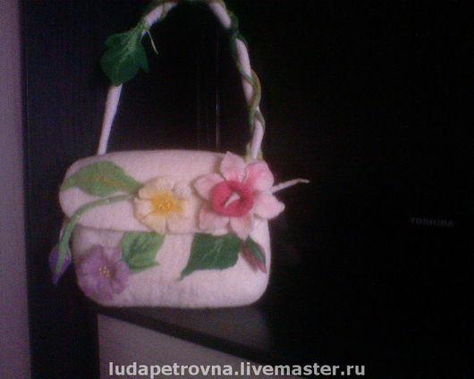 Женские сумки ручной работы. Ярмарка Мастеров - ручная работа. Купить Летние цветы. Handmade. Войлочная сумка, женская сумка
