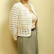Пиджаки ручной работы. Ярмарка Мастеров - ручная работа Вязаный женский пиджак, Вязаный крючком пиджак, кофта крючком. Handmade.