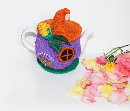 Кухня ручной работы. Ярмарка Мастеров - ручная работа. Купить Вязаная грелка на чайник. Handmade. Комбинированный, грелка на чайник вязаная