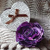 Украшения handmade. Livemaster - original item Brooch hairpin Flower Rose silk, large brooch. Handmade.