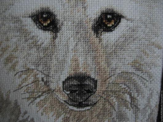 """Текстиль, ковры ручной работы. Ярмарка Мастеров - ручная работа. Купить Подушка с вышивкой """"Волки"""". Handmade. Темно-серый, шенилл"""
