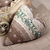 Куклы и игрушки ручной работы. Ярмарка Мастеров - ручная работа Сердечко подснежники. Handmade.