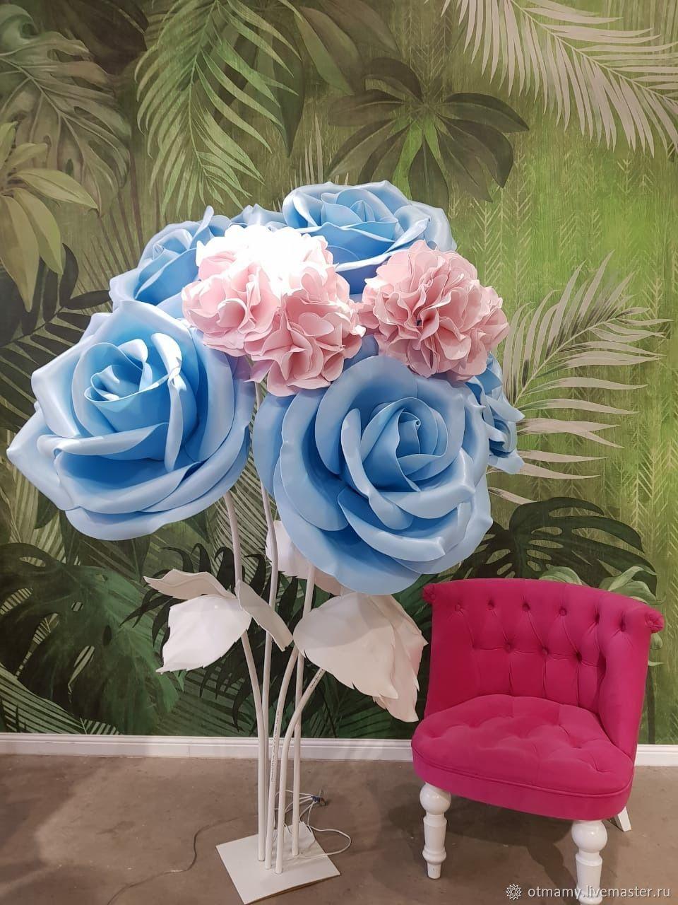 Большая голубая роза (ростовые цветы), Цветы, Москва,  Фото №1