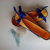 Обувь ручной работы. Ярмарка Мастеров - ручная работа Тапки-балетки(детские). Handmade.