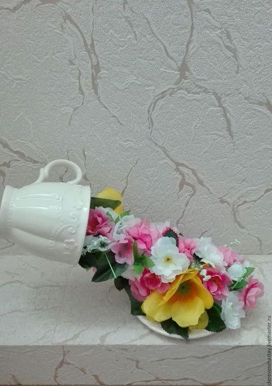 Интерьерные композиции ручной работы. Ярмарка Мастеров - ручная работа. Купить Парящая чаша 'Весеннее утро'. Handmade. Розовый, цветы