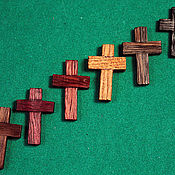 Украшения handmade. Livemaster - original item Wooden pectoral cross made of valuable wood species to choose. Handmade.