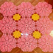 Салфетки ручной работы. Ярмарка Мастеров - ручная работа салфетка из мотивов разными цветами. Handmade.