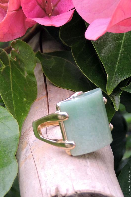 Кольца ручной работы. Ярмарка Мастеров - ручная работа. Купить кольцо с кварцем. Handmade. Зеленый, уникальное украшение, натуральные камни