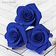 Заколки ручной работы. Ярмарка Мастеров - ручная работа. Купить Шпильки с розами (средние) Синие. Handmade. Цветы в прическу