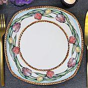 Посуда handmade. Livemaster - original item Plates: Porcelain plate