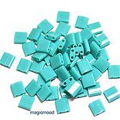 Материалы для творчества handmade. Livemaster - original item 5 grams Tila 412 green turquoise Japanese beads Miyuki Miyuki naprosn. Handmade.