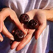 Косметика ручной работы handmade. Livemaster - original item Hydrophilic plitochki Chocolate. Handmade.