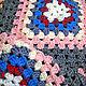 Текстиль, ковры ручной работы. Плед розовый и абстрактный. Nova ReDesign. Ярмарка Мастеров. Плед вязаный, шерстяная пряжа