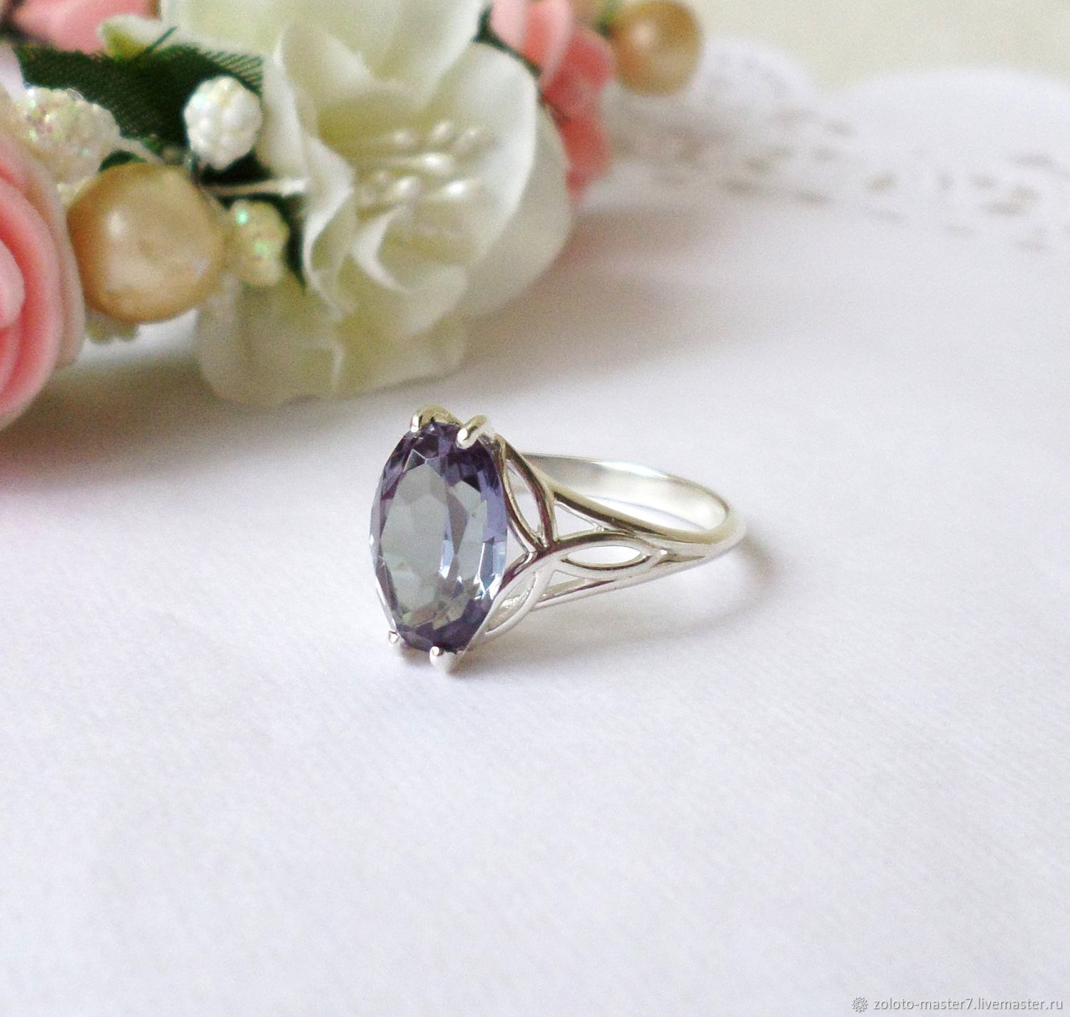 Silver ring alexandrite, Rings, Chaikovsky,  Фото №1