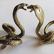 Для дома и интерьера ручной работы. Ярмарка Мастеров - ручная работа Фигурка Змея(латунь,литьё). Handmade.