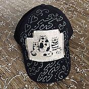 Аксессуары ручной работы. Ярмарка Мастеров - ручная работа Бейсболка с котиками черная. Handmade.