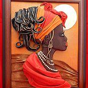 Картины и панно handmade. Livemaster - original item The picture of leather Africa. Volumetric picture of the skin.. Handmade.
