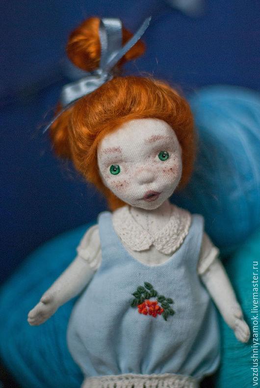 Коллекционные куклы ручной работы. Ярмарка Мастеров - ручная работа. Купить ..Карапузинка.. авторская текстильная кукла. Handmade. Голубой