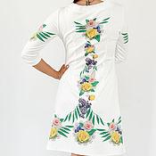 Одежда ручной работы. Ярмарка Мастеров - ручная работа Платье с принтом в русском стиле. Handmade.