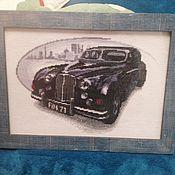 Картины и панно ручной работы. Ярмарка Мастеров - ручная работа ретро автомобиль, вышивка крестиком. Handmade.