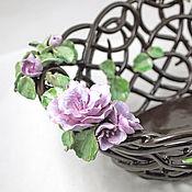 Посуда handmade. Livemaster - original item Openwork fruit bowl