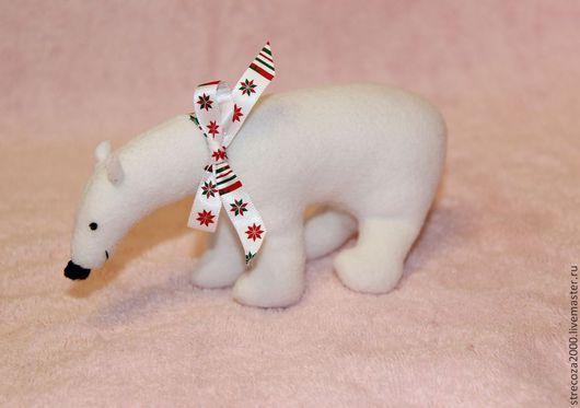 Игрушки животные, ручной работы. Ярмарка Мастеров - ручная работа. Купить Белый медведь. Handmade. Белый, полярный медведь