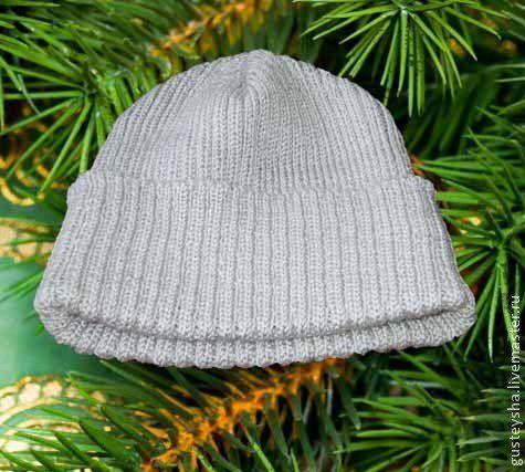 Шапки ручной работы. Ярмарка Мастеров - ручная работа. Купить Мужская шапка. Handmade. Однотонный, шапка, вязание на машине, для мужчин