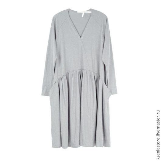 Платья ручной работы. Ярмарка Мастеров - ручная работа. Купить Платье-трапеция свободного силуэта серое. Handmade. Серый