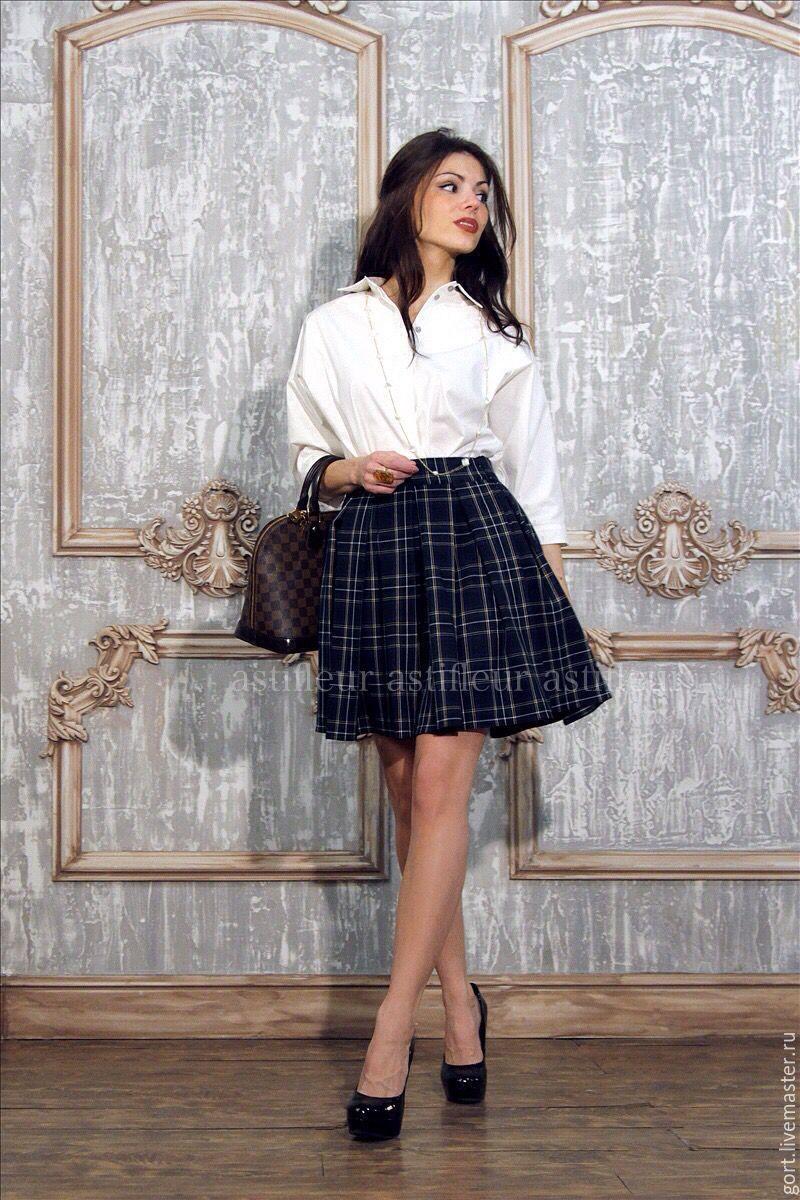 Офисная пышная юбка