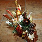 Подарки к праздникам ручной работы. Ярмарка Мастеров - ручная работа Валенок новогодний..........сувенир с конфетами. Handmade.