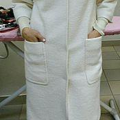 Одежда ручной работы. Ярмарка Мастеров - ручная работа Пальто белое шерсть. Handmade.