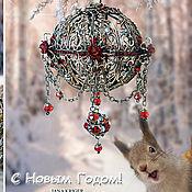 Для дома и интерьера ручной работы. Ярмарка Мастеров - ручная работа Новогодний шар.. Handmade.