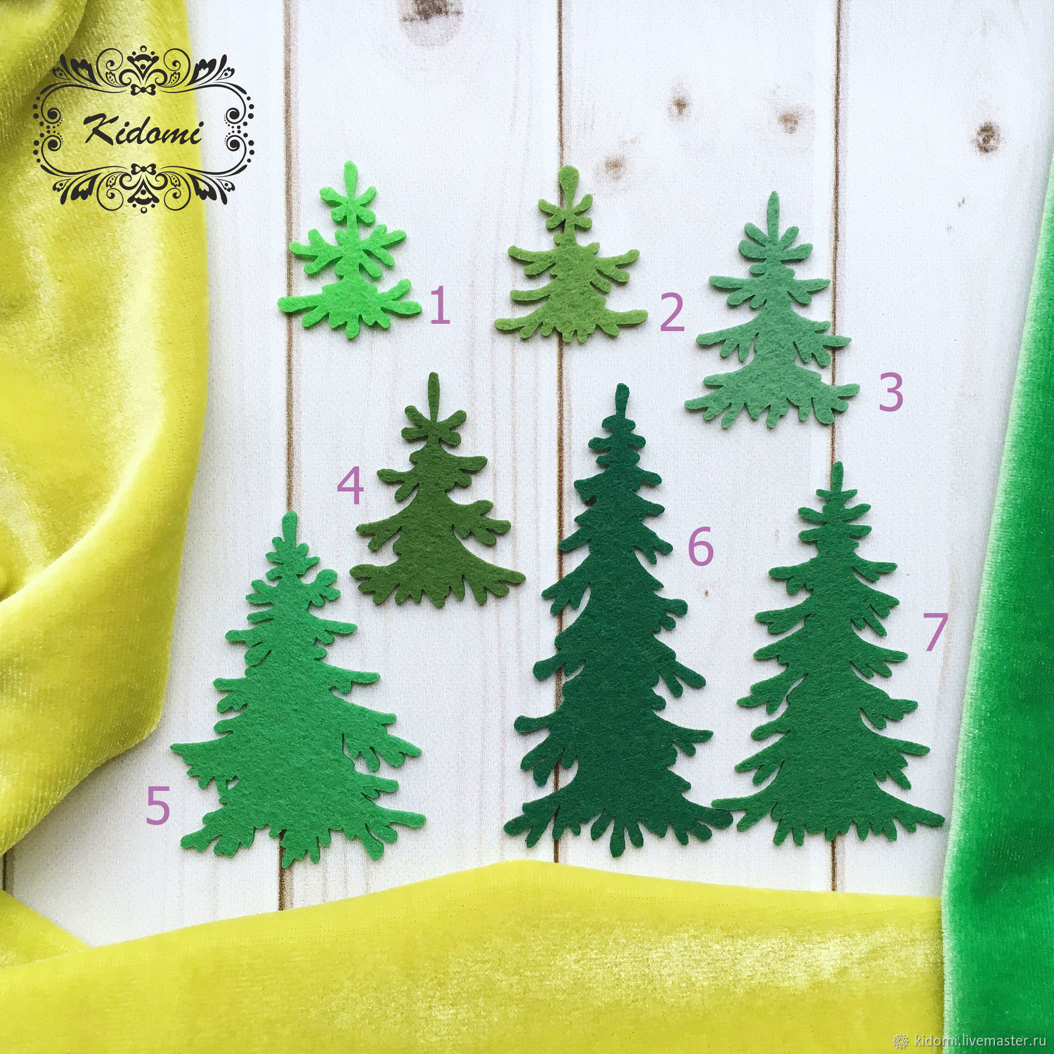 Cutting of felt ' Christmas Trees', Felts, Kazan,  Фото №1